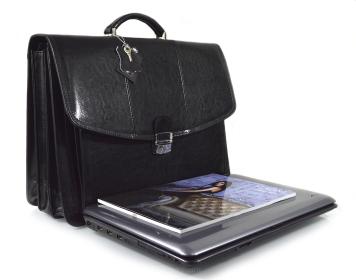 Torba skórzana biznesowa na laptop 15,6