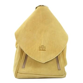 346d467efa607 Damski plecak, torba 2w1, skórzany, PERFEKT, camel