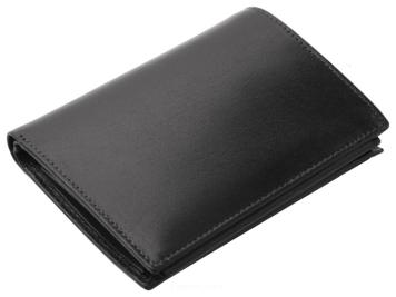 fa8ede91e41d8 Portfel męski skórzany z zabespieczeniem skanowania kart, RFID PROTECTION  PM-358 Czarny