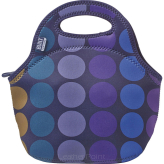 Torebka na lunch marki BUILT wzór Gourmet Getaway Lunch Tote, Plum Dot