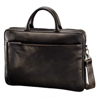 Biznesowa, skórzana torba na laptop 15,6, Hama est. 1923 LTH.BAG Mathis Paris, Dark Brown