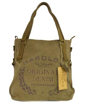 Torebka miejska , torba damska na ramię HAROLDS ORIGINAL DENIM Canvas, kolor naturalny